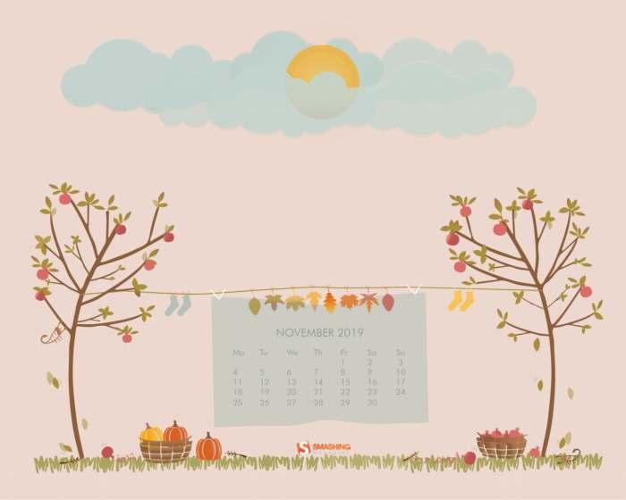 Fondos con calendario noviembre 2019 + fondos de animales y pájaros