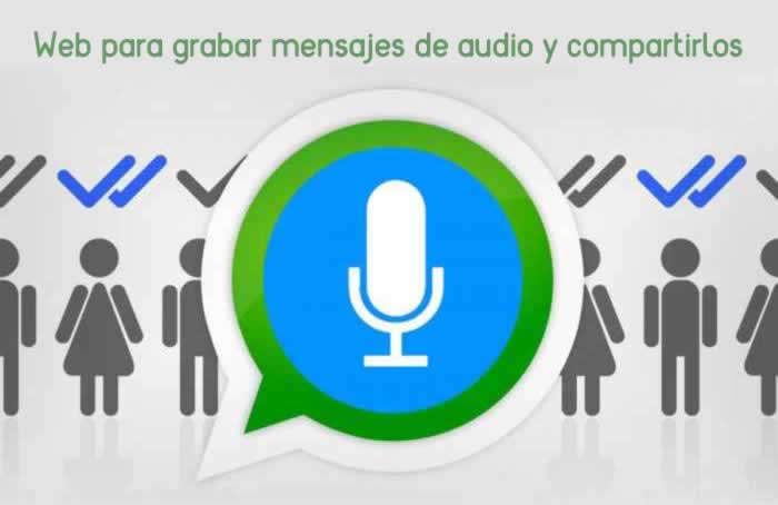 Web para grabar fácilmente mensajes de voz y compartirlos