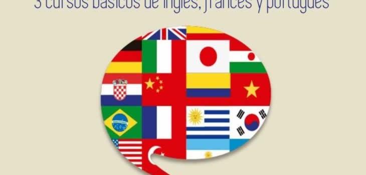 3 cursos básicos de inglés, francés y portugués
