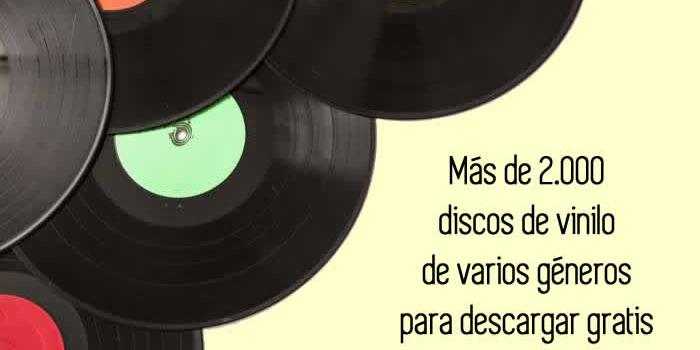 Más de 2000 discos de vinilo de varios géneros para descargar gratis