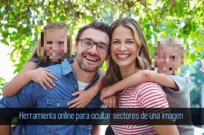 Herramienta online para ocultar porciones de una imagen