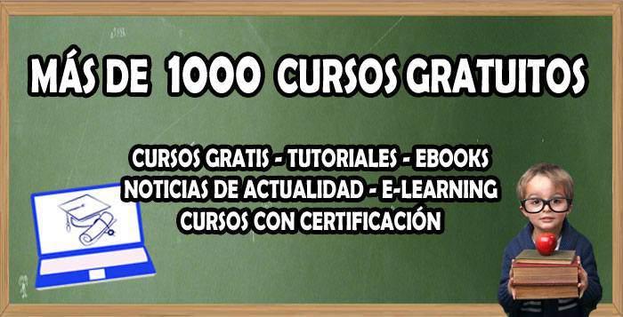 Milcursosgratis. Más de 1.000 cursos online y gratis