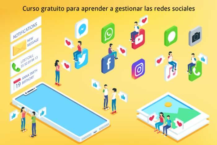 Curso gratuito para aprender a gestionar las redes sociales
