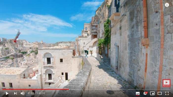 Increíble caminata virtual por Matera, la ciudad de las casas cueva