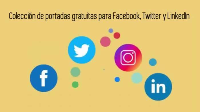 Colección de portadas gratuitas para Facebook, Twitter y LinkedIn