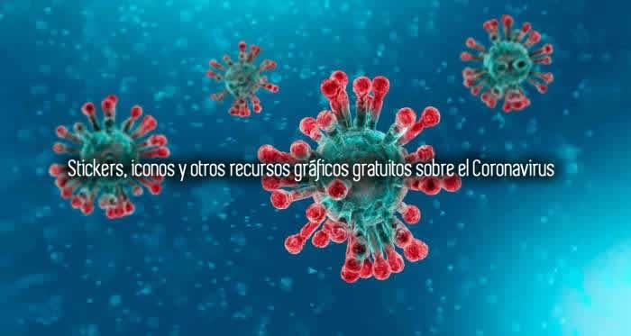 Stickers, iconos y otros recursos gráficos gratuitos sobre el Coronavirus