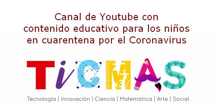 Canal de Youtube con contenido educativo para los niños en cuarentena por el Coronavirus