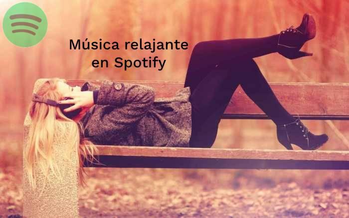 Música relajante en Spotify
