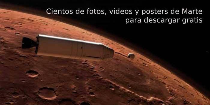 Cientos de fotos, videos y posters de Marte para descargar gratis