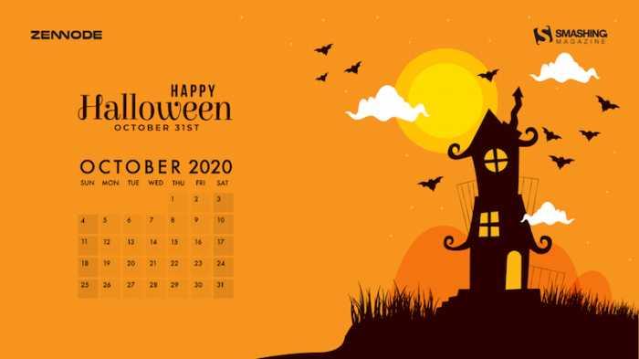 Fondos de pantalla con calendario octubre 2020 + fondos Halloween