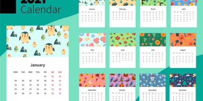 5 opciones para descargar e imprimir gratis los calendarios 2021
