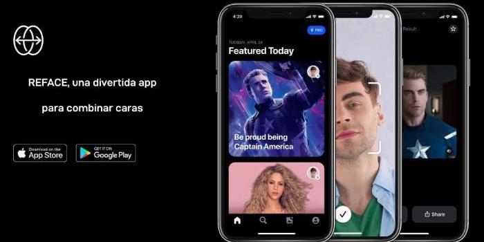 REFACE, una divertida app para combinar caras