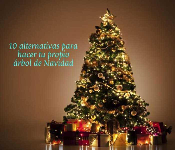 10 alternativas para hacer tu propio árbol de navidad