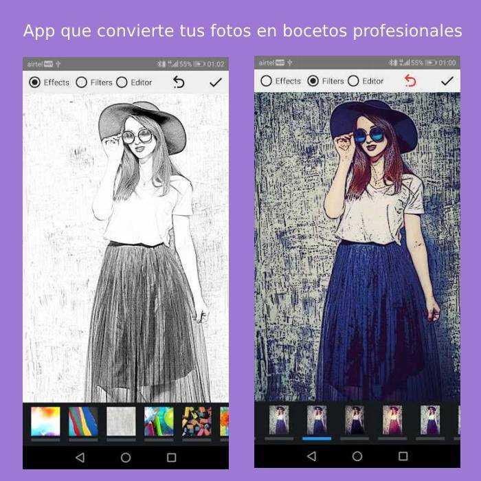App que convierte tus fotos en bocetos profesionales