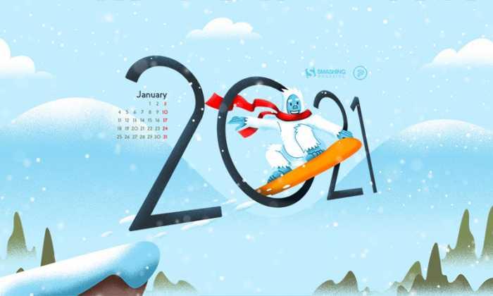 Fondos de pantalla con el calendario enero 2021 + fondos 2021