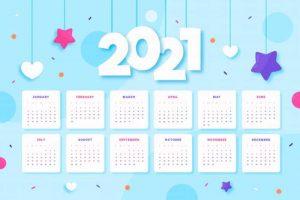 Más calendarios 2021 para descargar e imprimir gratis