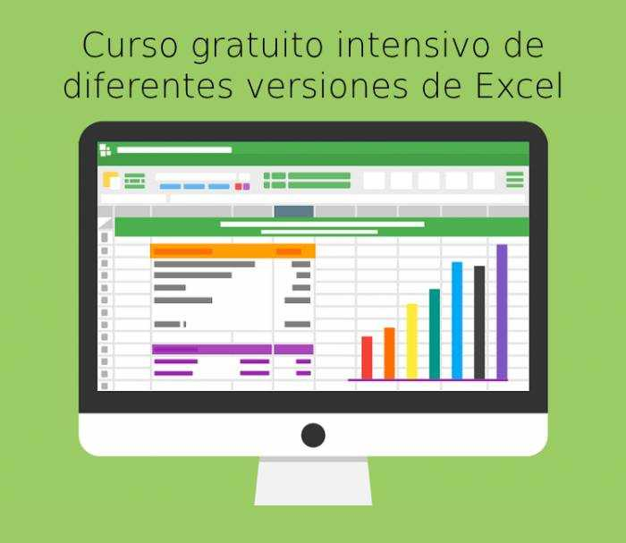 Curso gratuito intensivo de diferentes versiones de Excel