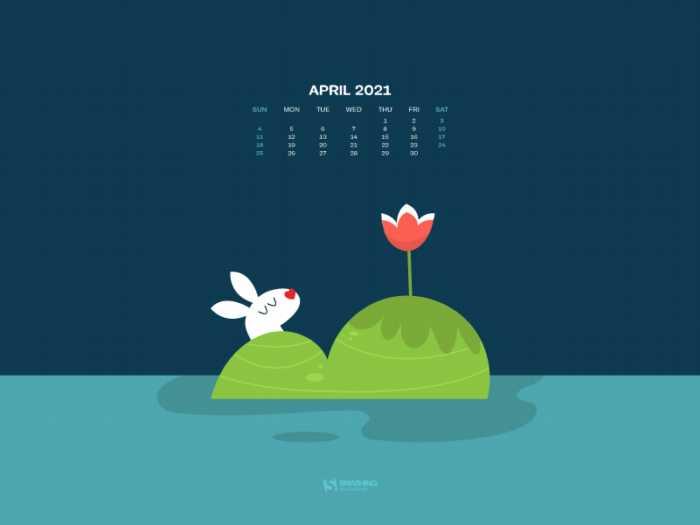 Fondos con el calendario abril 2021 + fondos de macrofotografía
