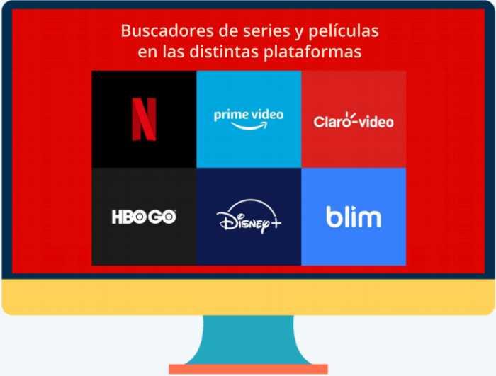 Buscadores de series y películas en las distintas plataformas