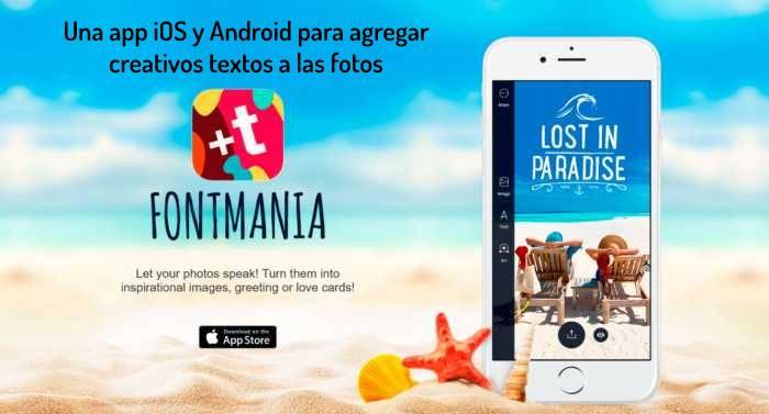 Una app iOS y Android para agregar creativos textos a las fotos