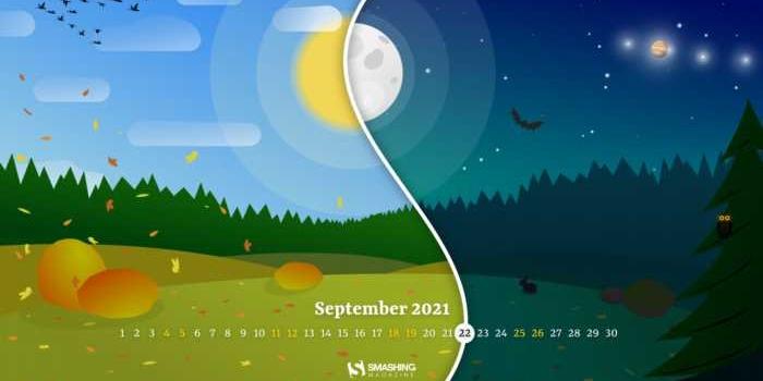 Fondos con el calendario septiembre 2021 + fondos de la naturaleza