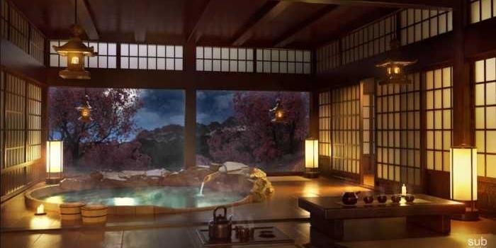 Sonidos relajantes en un fantástico ambiente japonés