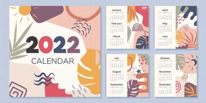 Descarga los primeros calendarios gratuitos de 2022