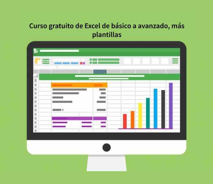 Curso gratuito de Excel de básico a avanzado, más plantillas